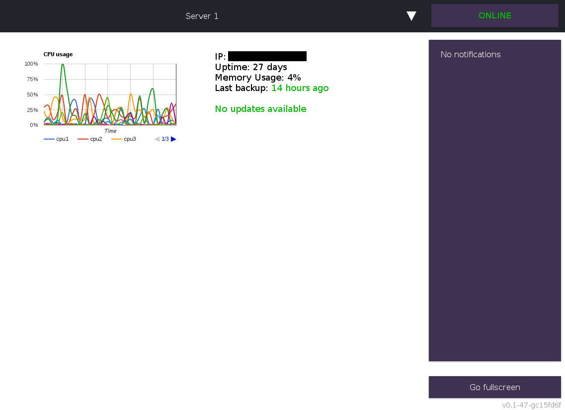 web front-end for a server monitoring tool